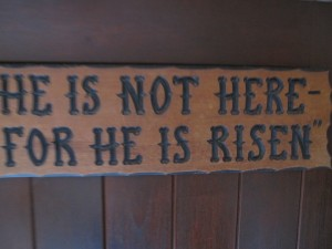 Posted near the empty tomb above