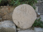 A stone like the one that sealed Jesus's tomb