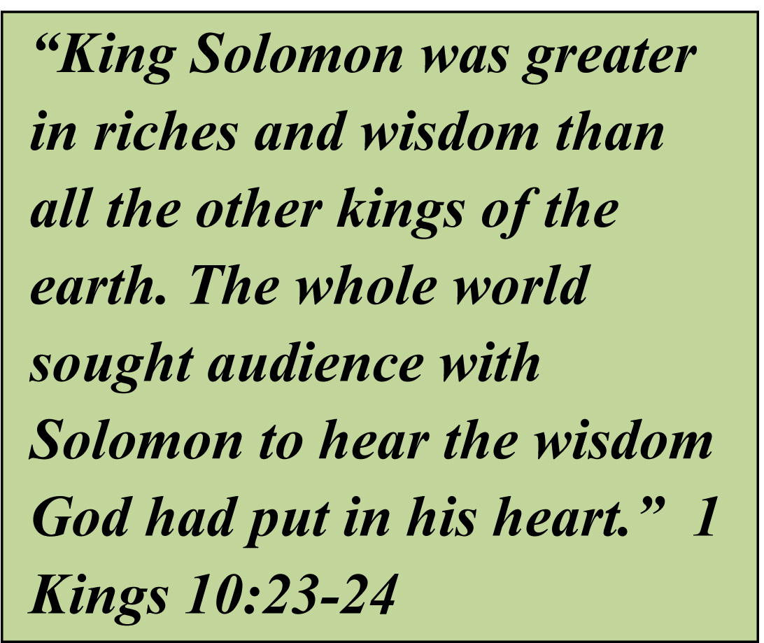 King Solomon Quotes: Childhood, Adolescence, Adulthood, And A Mid-life Crisis