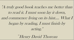 Acting on a book