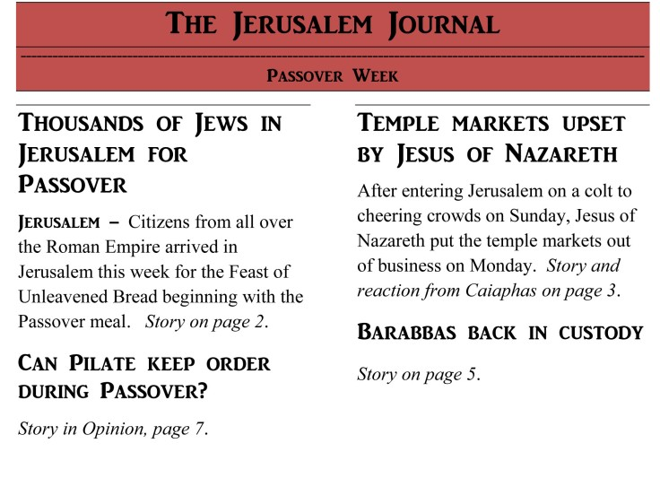 Jerusalem journal Passover