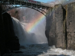 Rainbow and bridge from morguefile