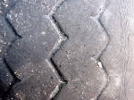 Worn tire tread