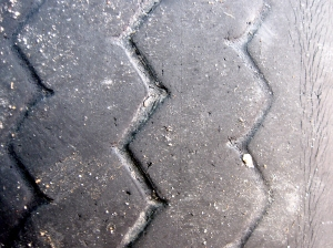 Worn tire tread