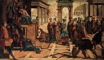 Solomon and the Queen of Sheba by Jacopo Tintoretto c 1545