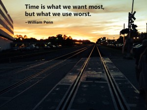 Train tracks with quote