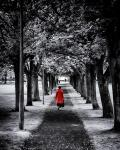 Woman in red_coat from Morguefile