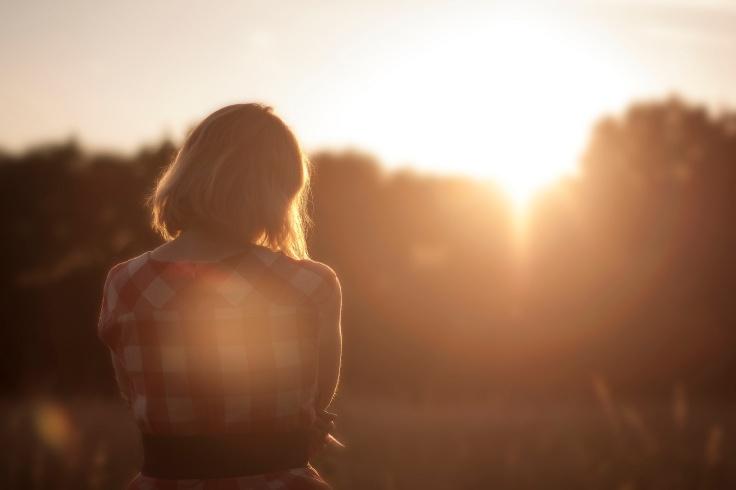 Sunset girl from unsplash