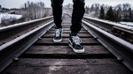 Walking on tracks from unsplash