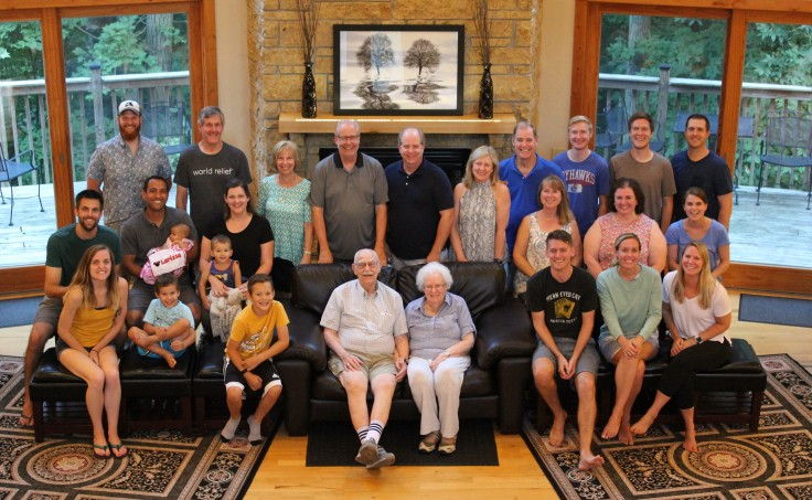 Whole clan at the 65th anniversary cropped